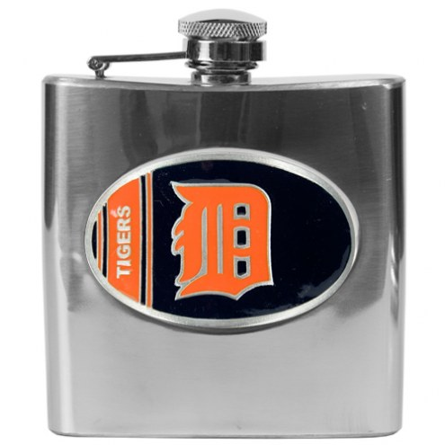 Detroit Tigers MLB 6 Oz. Stainless Steel Hip Flask