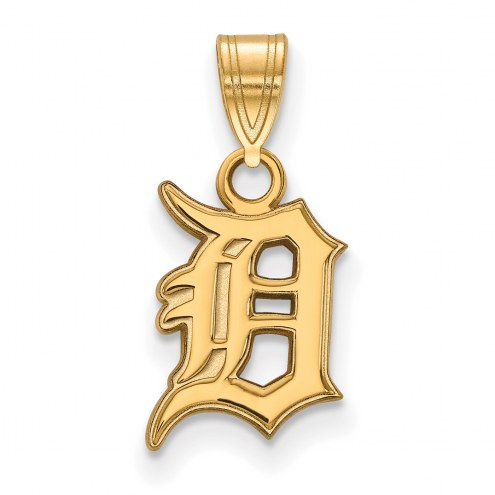 Detroit Tigers MLB Sterling Silver Gold Plated Small Pendant