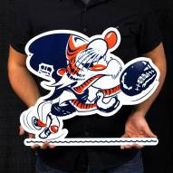 """Detroit Tigers Outfield Kitty 24"""" Steel Logo Sign"""