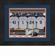Detroit Tigers Personalized Locker Room 13 x 16 Framed Photograph