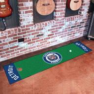 Detroit Tigers Golf Putting Green Mat