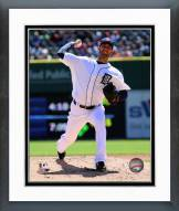 Detroit Tigers Rick Porcello Action Framed Photo