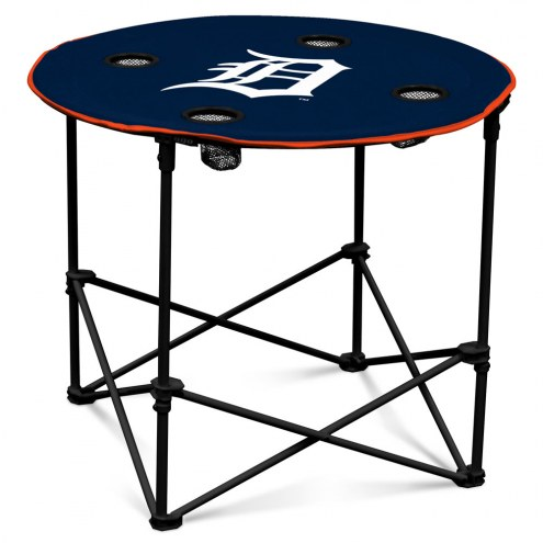 Detroit Tigers Round Folding Table