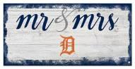 Detroit Tigers Script Mr. & Mrs. Sign
