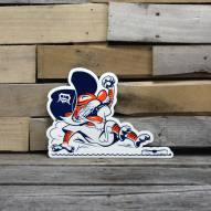 "Detroit Tigers Sliding Kitty 12"" Steel Logo Sign"