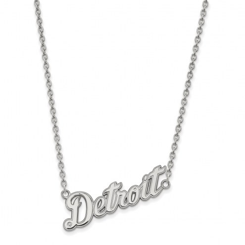 Detroit Tigers Sterling Silver Large Pendant Necklace