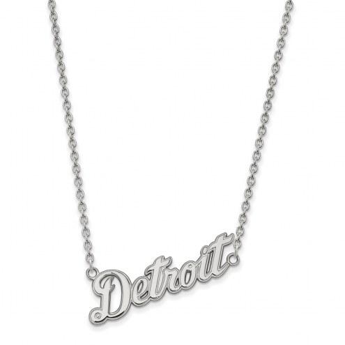 Detroit Tigers Sterling Silver Large Pendant Necklace