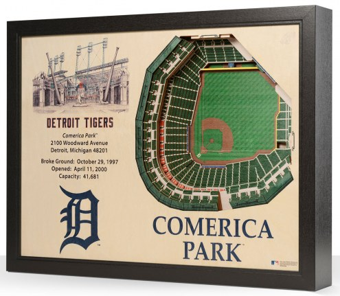 Detroit Tigers 25-Layer StadiumViews 3D Wall Art