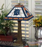 Detroit Tigers Stained Glass Mission Table Lamp