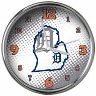 Detroit Tigers State of Mind Chrome Clock