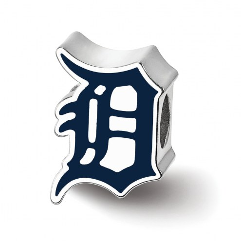 Detroit Tigers Sterling Silver Enameled Bead
