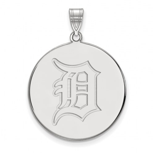 Detroit Tigers Sterling Silver Extra Large Disc Pendant