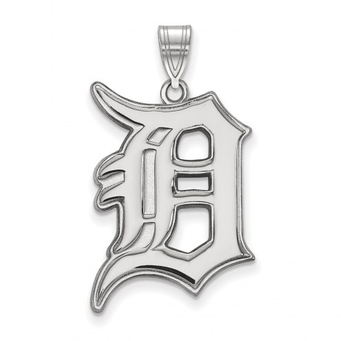 Detroit Tigers Sterling Silver Extra Large Pendant