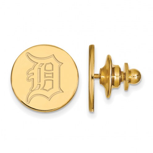 Detroit Tigers Sterling Silver Gold Plated Lapel Pin