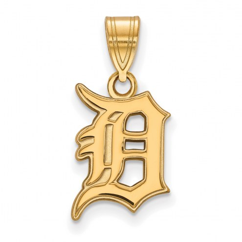 Detroit Tigers Sterling Silver Gold Plated Medium Pendant