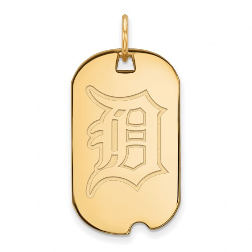 Detroit Tigers Sterling Silver Gold Plated Small Dog Tag
