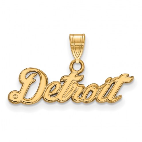 Detroit Tigers Sterling Silver Gold Plated Small Pendant