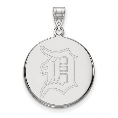 Detroit Tigers Sterling Silver Large Disc Pendant