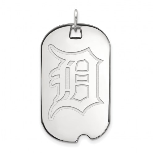 Detroit Tigers Sterling Silver Large Dog Tag