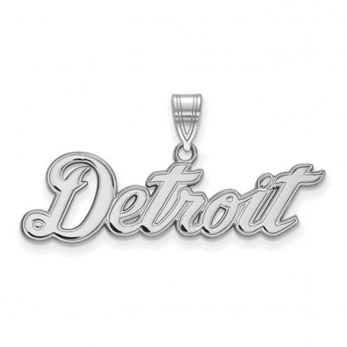 Detroit Tigers Sterling Silver Large Pendant