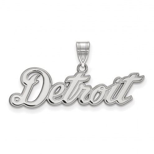 Detroit Tigers Sterling Silver Large Pendant