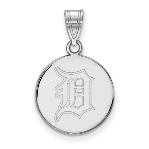 Detroit Tigers Sterling Silver Medium Disc Pendant