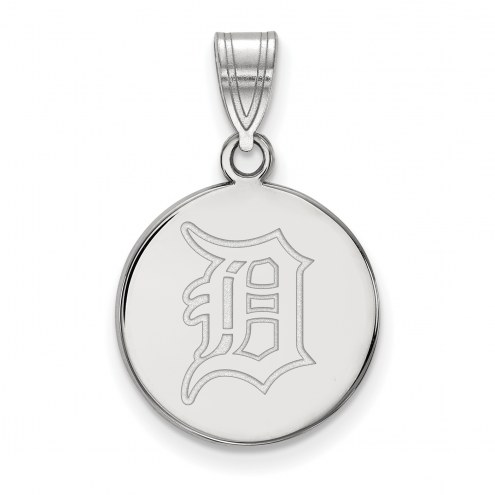 Detroit Tigers Sterling Silver Medium Disc Pendant