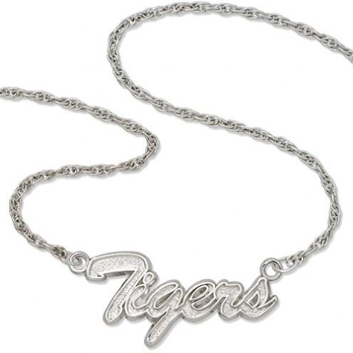 Detroit Tigers Sterling Silver Script Necklace