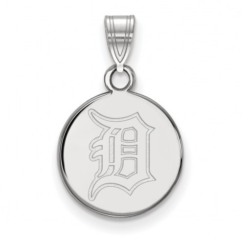 Detroit Tigers Sterling Silver Small Disc Pendant