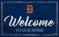 Detroit Tigers Team Color Welcome Sign