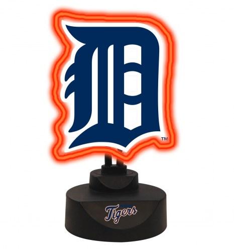 Detroit Tigers Team Logo Neon Light