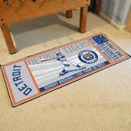 Detroit Tigers Ticket Runner Rug