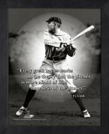 Detroit Tigers Ty Cobb Framed Pro Quote