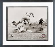 Detroit Tigers Ty Cobb Sliding into base Framed Photo