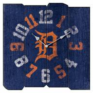 Detroit Tigers Vintage Square Clock