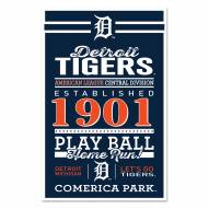 Detroit Tigers Established Wood Sign
