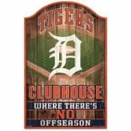Detroit Tigers Fan Cave Wood Sign