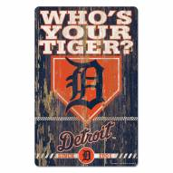 Detroit Tigers Slogan Wood Sign