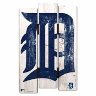 Detroit Tigers Wood Fence Sign