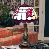New Jersey Devils NHL Stained Glass Table Lamp
