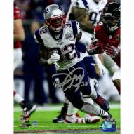 Devin McCourty Signed Super Bowl 51 Action 8 x 10 Photo