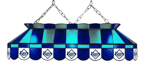 """Tampa Bay Rays MLB Team 40"""" Rectangular Stained Glass Shade"""