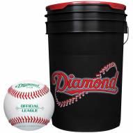 Diamond 6 Gallon Ball Bucket with 30 ODB Baseballs