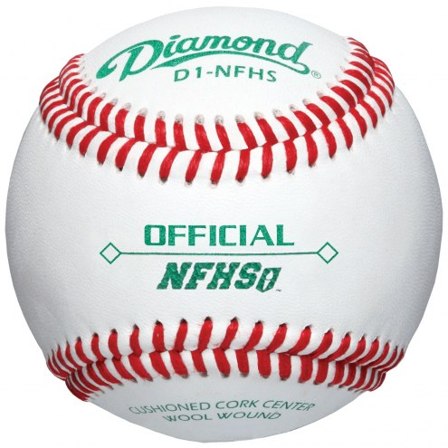 Diamond D1-NFHS Official League Baseballs - Dozen
