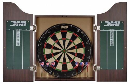 DMI Darts Deluxe Dartboard Cabinet Sets Bristle Dart Board Cabinet Set
