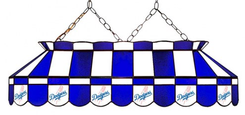 "Los Angeles Dodgers MLB Team 40"" Rectangular Stained Glass Shade"