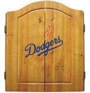 Los Angeles Dodgers MLB Complete Dart Board Cabinet Set (w/ darts & flights)