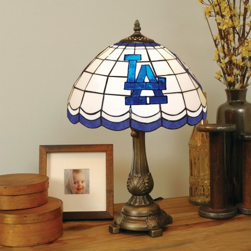 Los Angeles Dodgers MLB Stained Glass Table Lamp