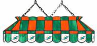 """Miami Dolphins NFL Team 40"""" Rectangular Stained Glass Shade"""