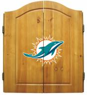 Miami Dolphins NFL Complete Dart Board Cabinet Set (w/darts & flights)
